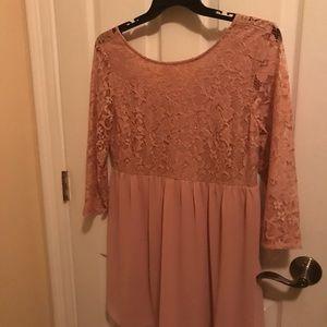 Forever 21 light pink/blush L mini dress